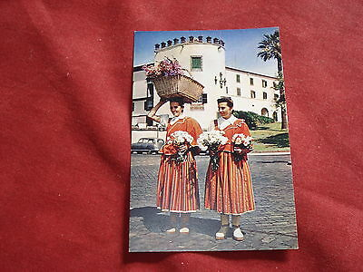 VINTAGE PORTUGAL: MADEIRA Flower sellers by the pier colour