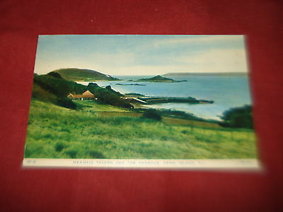 VINTAGE CHANNEL ISLANDS: HERM Harbour and Mermaid Tavern colour tint