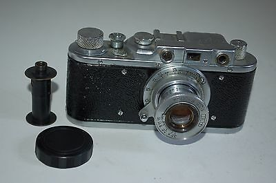 Fed 1 (NO NUMBER) Vintage Soviet Rangefinder Camera and Case. Serviced.