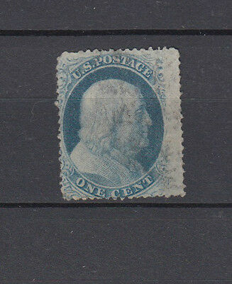 A very nice early United States Franklin 1 Cent Dull Blue issue