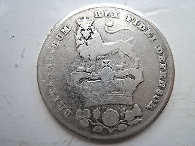 George IV Sterling Silver Shilling Dated 1826 ( 191 Years OLD)