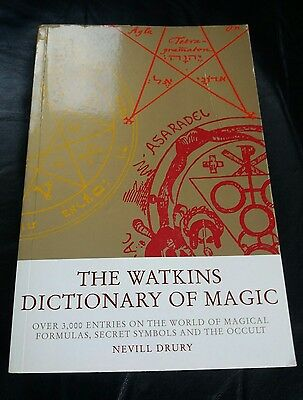 THE WATKINS DICTIONARY OF MAGIC by NEVILL DRURY OCCULT BOOK