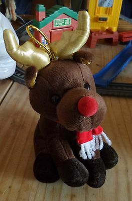 Very cute Reindeer soft toy suitable for 3 years upwards good clean condition