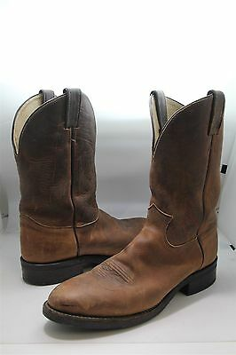 Justin Boots Men's Brown Leather 3405 Cowboy Boots Sz 11