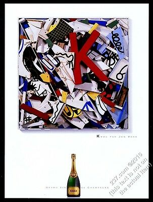 2002 Krug Champagne bottle photo Jan Voss art vintage print ad
