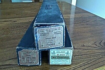 Lot of 3 Vintage Piano Paper Roll – The Otto Higel Co. Made in Canada