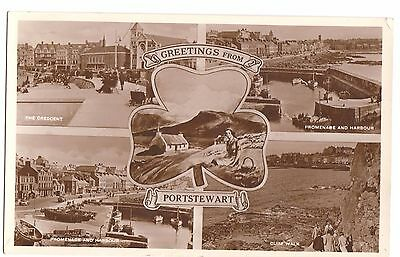 Old Multi-View Postcard 'Greetings From Portstewart' Co Derry/Londonderry R/P