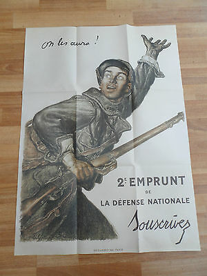 """Ww1  """"on Les Aure""""  Large French Recruitment Poster 1916"""