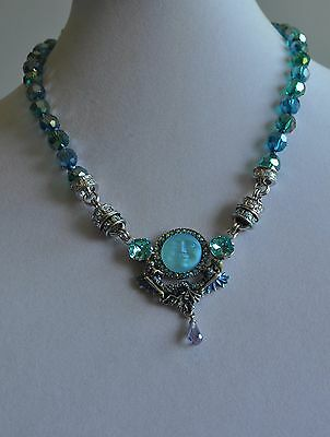 Kirks Folly Seaview Moon Sister Mermaid Enhancer With Necklace  In Silvertone