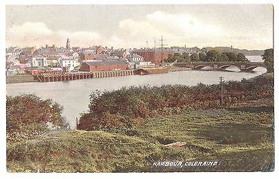 Old Postcard 'The Harbour' Coleraine Co Derry/Londonderry 1907