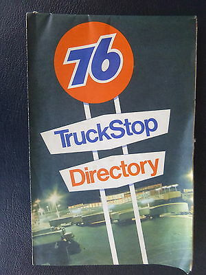1970 United States truck stop directory road map Union 76   oil gas