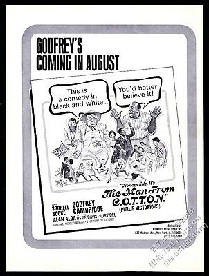 1970 Godfrey Cambridge The Man from C.O.T.T.O.N Gone Are the Days movie trade ad