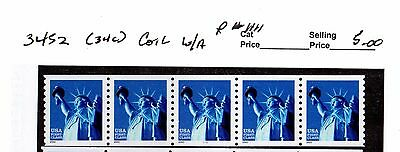 3452 Non Denominated Statue of Liberty PNC 5 P$1111 W/A MNH