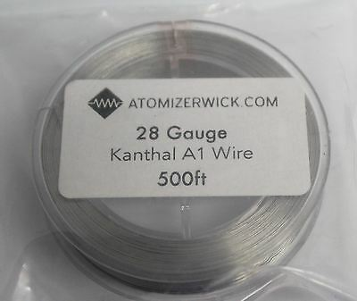 NEW 28 Gauge Round Kanthal AWG A1 Resistance Wire 500Ft Spool