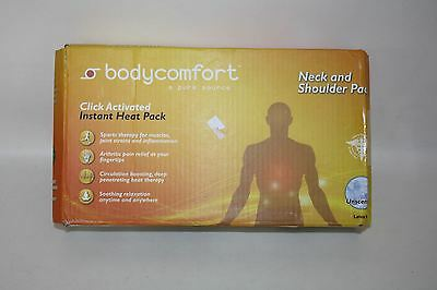 NEW BODYCOMFORT Click Activated Neck & Shoulder Instant Unscented Heat Pack