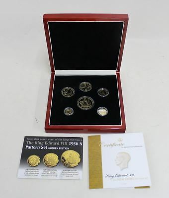 NEW LONDON MINT OFFICE 1936 EDWARD VIII 6-Coin 24K Gold Layered Ed. 6-Coin Set