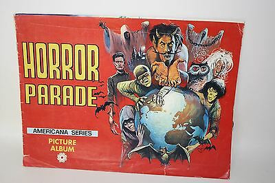 AMERICANA SERIES Horror Parade 1970'S Vintage Sticker Collector's Picture Album