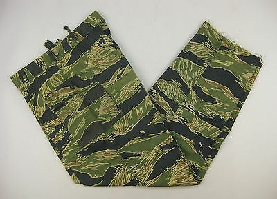 VTG Tiger Stripe Pants Original Vietnam MACV SOG US Navy SEALs LRRP SF • LARGE