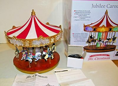 2013 Mr Christmas Jubilee Carousel Animated Color/Clear Lights Music 30 Songs