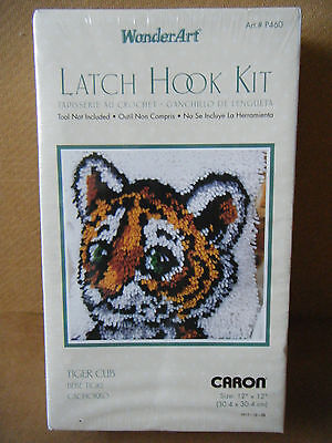 """Caron/WonderArt Latch Hook kit """"TIGER CUB"""" P460. From 2011. New and Sealed."""