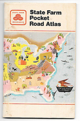 1976 Rand Mcnally State Farm United States, Canada And Mexico Pocket Road Atlas