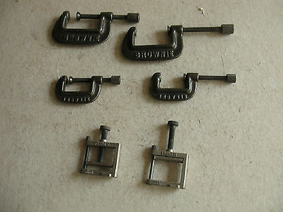 6 Clamps 4 Brownie 2 Fisher.