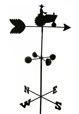 WEATHER VANE FARM TRACTOR 5 Feet Tall Black Garden Mount Yard  Decor