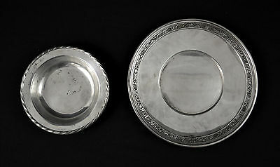 """Vintage .925 Sterling Silver """"Plate & Small Bowl""""  306 Grams (3731)"""