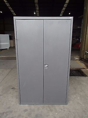 Office/Garage Dexion Stationary Cabinet Grey Steel DEX/4
