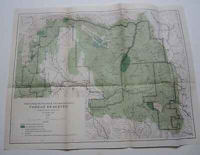 1898 FOREST RESERVES MAP Pikes Peak Plum Creek So. Platte COL. - FOREST DENSITY