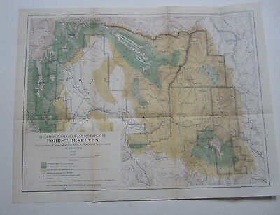 1898 FOREST RESERVES MAP Pikes Peak Plum Creek So. Platte COL. - TIMBER TREES