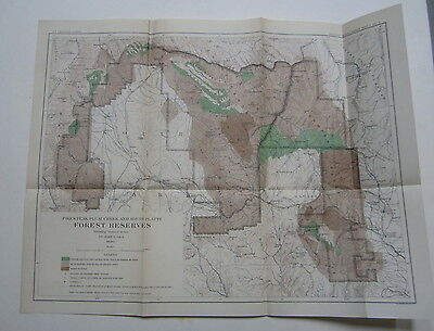 1898 FOREST RESERVES MAP Pikes Peak Plum Creek So. Platte COL. - Burned Areas
