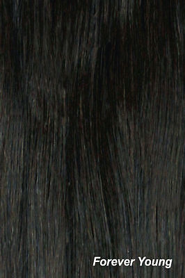 "Premium Clip In Human Hair Extension One Piece QA08 18"" Colour Off Black #1B"