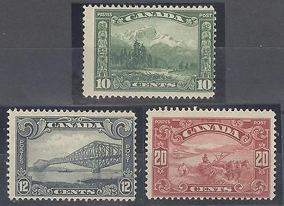 Canada Stamps Collection Scott #155, 156, 157, (3) Mint LH