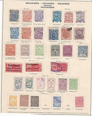 Colombia States Santander 1884-1907 2 pages including local issues