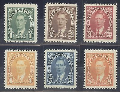 Canada Stamps Set of 6 Scott # 231-236 Mint H and LH