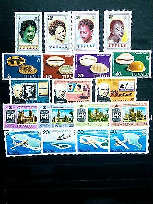 tuvalu small lot of 5 mint never hinged sets