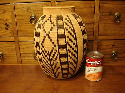 Wounaan Embera Incredible Large Geometric Rare Form Basket 10 7/8""