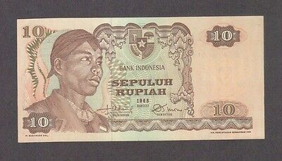1968 10 Rupiah Indonesia Currency Unc Banknote Note Money Bank Bill Cash Asia Cu