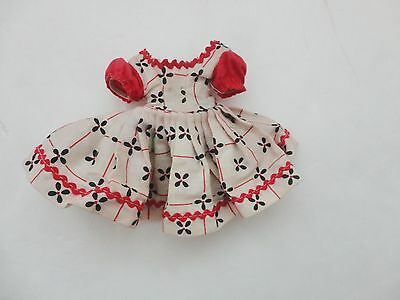 Vintage Tagged Cosmopolitan Little Miss Ginger Doll Dress