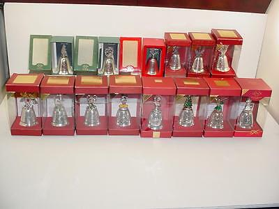 1996-2009 Lenox Kirk Stieff 14 Silver Plated Musical Christmas Bell Ornament Lot