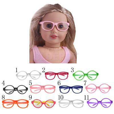 """Cute Round/Cat Style Eye Glasses for 18"""" American Girl Our Generation Dolls"""