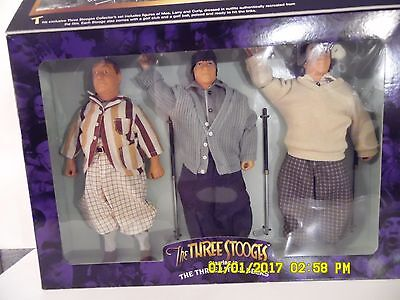 "Three Stooges Figurines ""The Three LIttle Beers"" Collector's Edition FAO Schwarz"