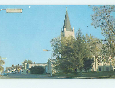 Unused Pre-1980 CHURCH SCENE Milltown Wisconsin WI hs6619