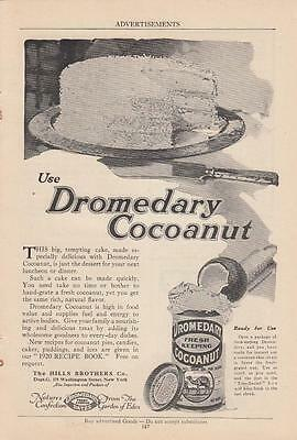 1920 Hills Brothers Co New York NY Ad: Frosted Cake with Dromedary Cocoanut