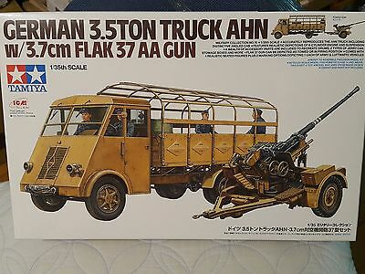 Tamiya 1/35 German 3.5ton Truck AHN w/3.7cm Flak 37 AA Gun Model Kit #32410