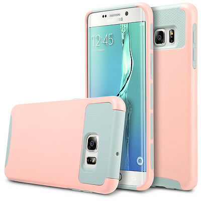 For Samsung Galaxy S6 Edge Plus Slim Hybrid Shockproof Hard Rugged Case Pink