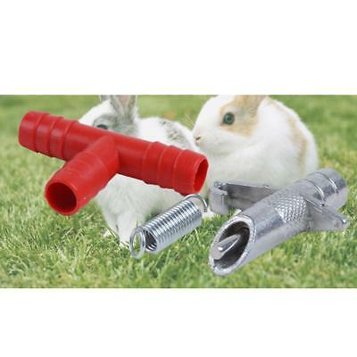 10x Rabbit Ferrets Nipple Water Drinker Waterer Poultry Feeder Rodent Mouse