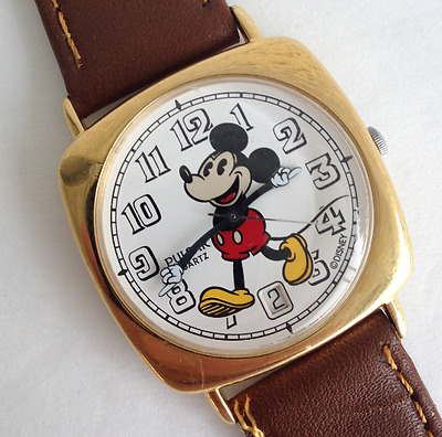 Rare Pulsar V532-6E70 Date Mickey Mouse Character Watch Lot MIB