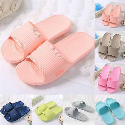 Men Women Slip On Sport Slide Sandals Flip Flop Shower Shoes Slippers House Gym